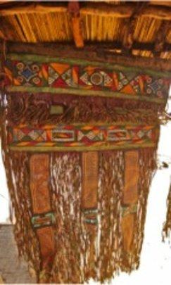 Igaraygaraya decorated leather panel