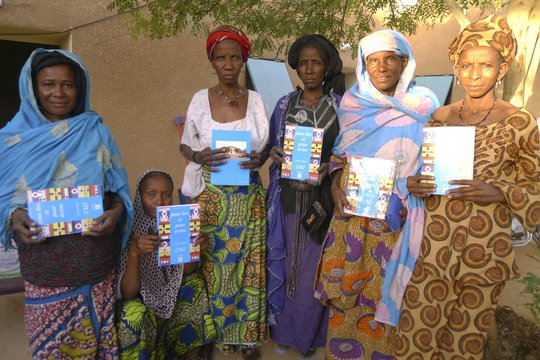 FAHRA artisans of Ingal with French books