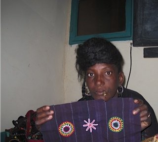 Labe of Barka/MCV co-op with her design.