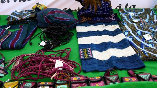 Artisan wares on display at the festival