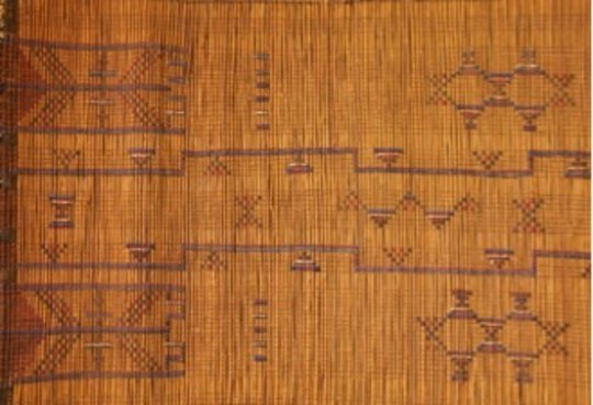 Tekurut decorated reed mat