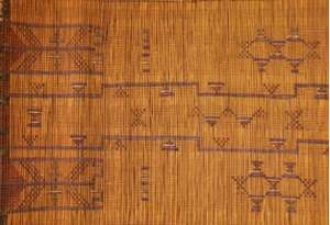 Tekurut decorative reed stick mat