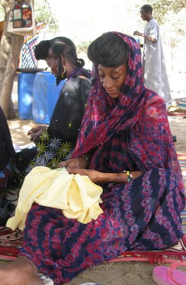Wodaabe artisans at work.