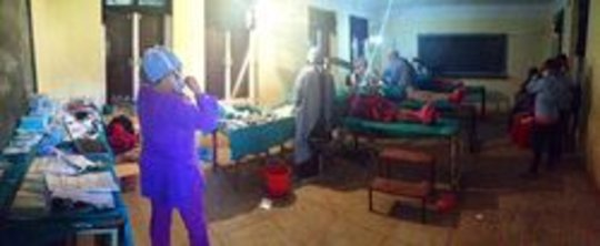 The classroom during surgery