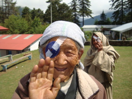 Post-operative cataract patient