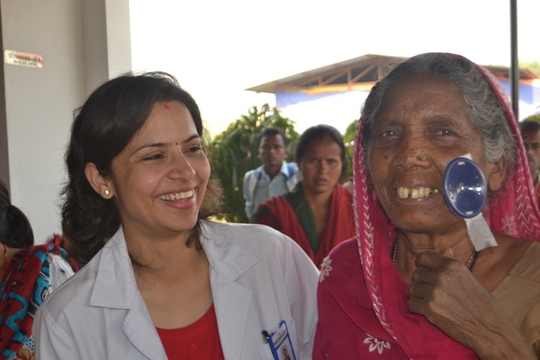 Dr. Sanjita Sharma and a happy patient