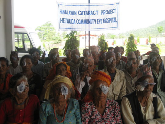 Post-Op.Patients at Hetauda Community Eye Hospital