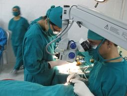 Dr. Paudel performing surgery