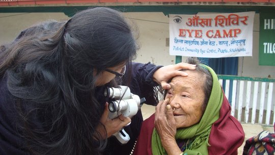 Patient being screened