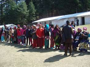 Patients lining up in Nepal