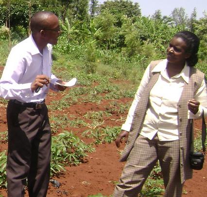 Michael's cassava project_Michael w/ Mrs. Kaimenyi