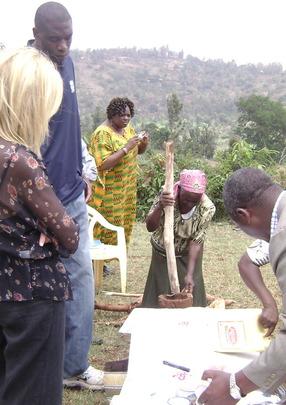 Michael: Women making cassava products
