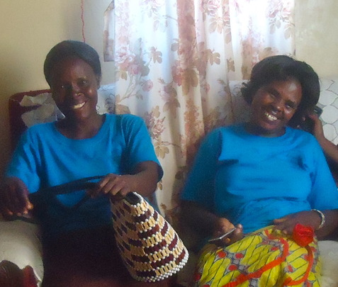 Jemimah: women's group members with new purse