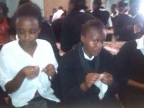 Shadrack: Girls making sanitary towels