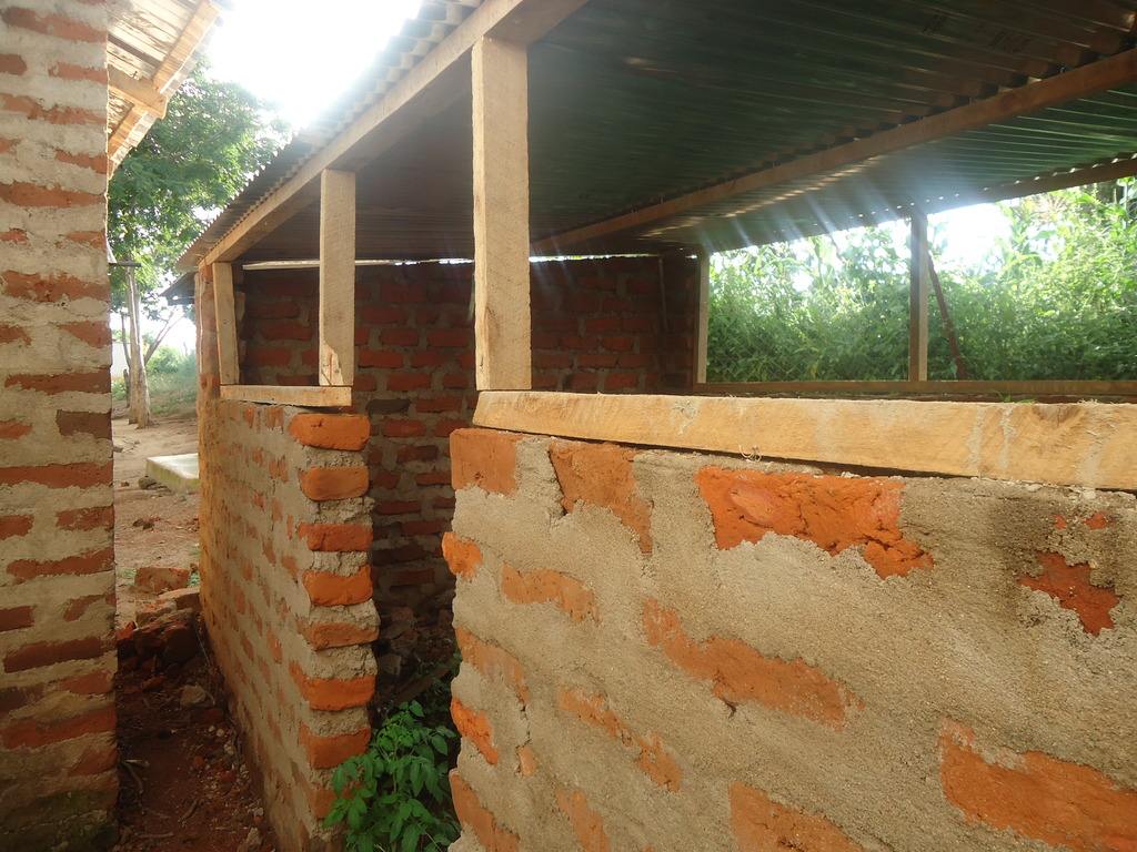 Jemimah: near finished poultry house_front