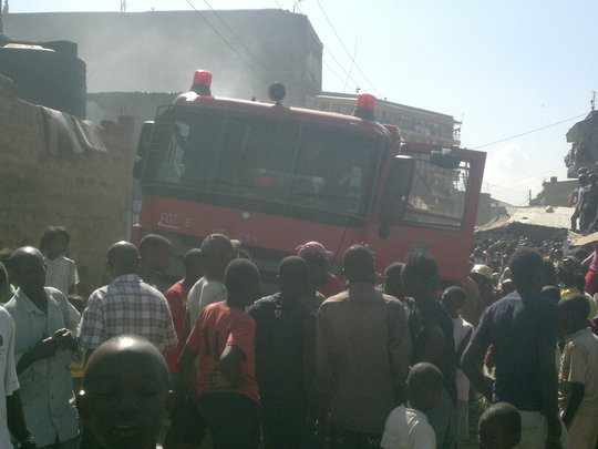 Fire Truck during the tragedy