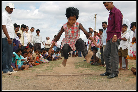 Little Champs while doing Long Jump