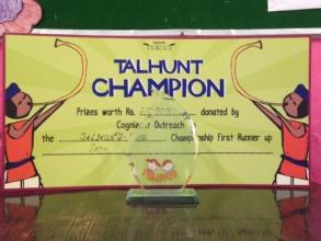 Award at the Inter school Talhunt