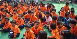 Children Assemble at School