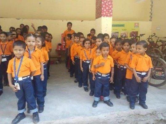 Smart Kids in New Uniform