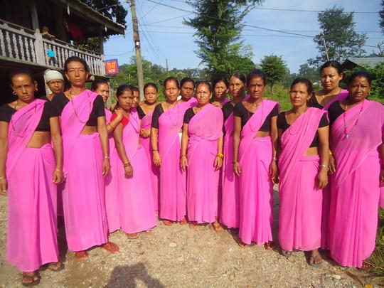 Members of Gayeatri Pariwar Bachat Samuha SHG