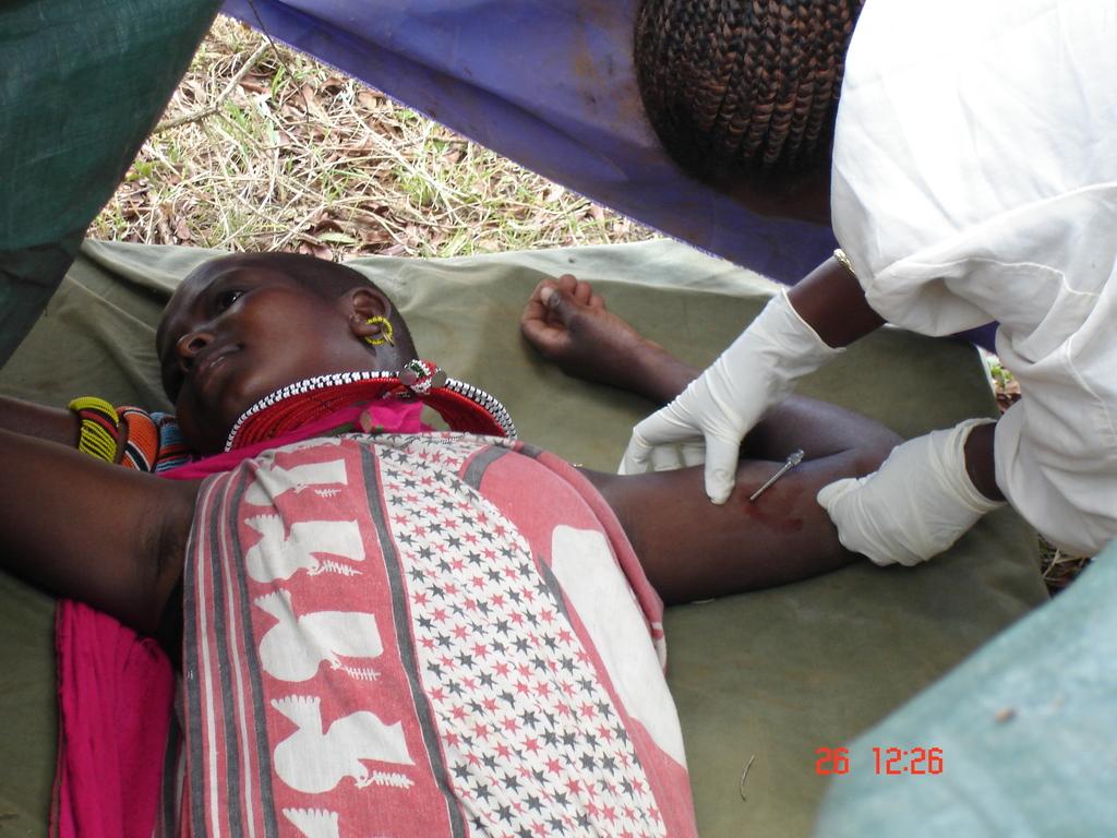 Samburu Woman Receiving Long-Term Contraception