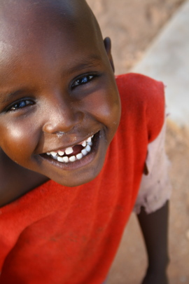 A happy little Samburu child