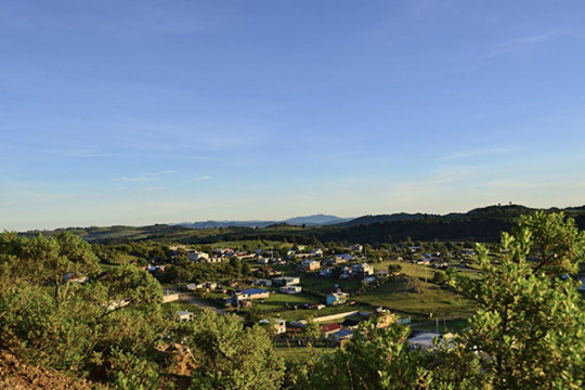 Panoramic view of San Jose Corral Blanco