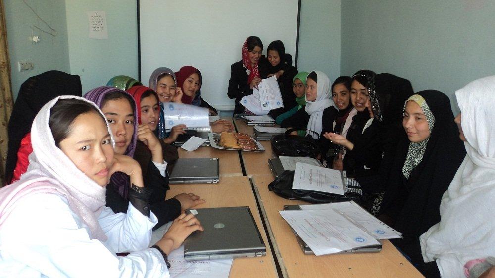 Girls attending the class