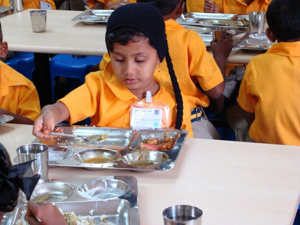 Student Eating at Christel House India