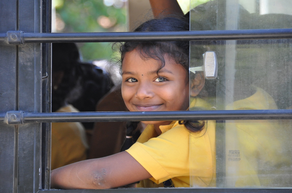Geetha on her way to Christel House India