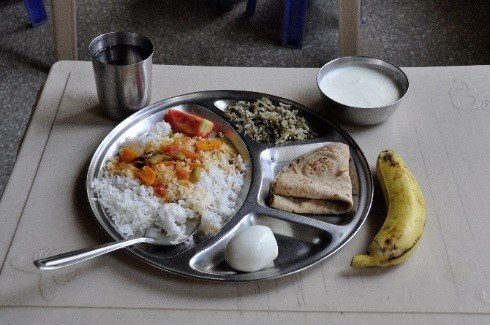 A student meal at Christel House