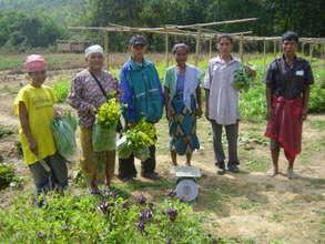 Community Center & Family Gardens in Thailand-UNC