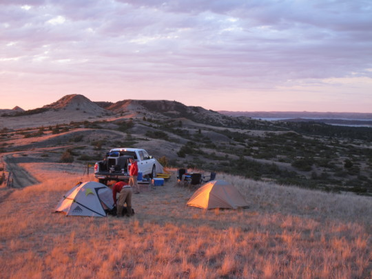 Camping on the CMR Refuge for field work
