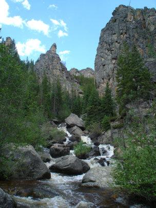 Sarvis creek is popular among local anglers