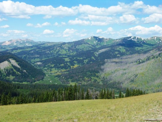 The Wyoming Range runs north-south 80 miles