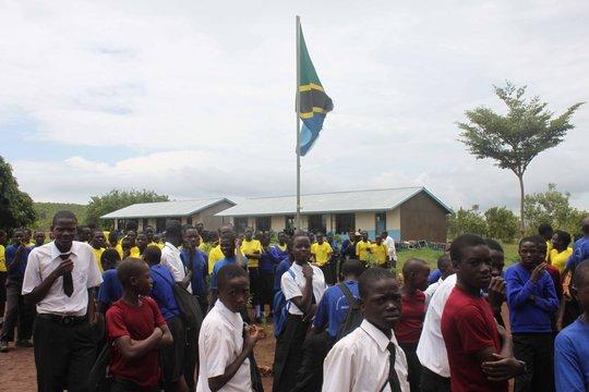 Students of the Kyanyara Secondary School