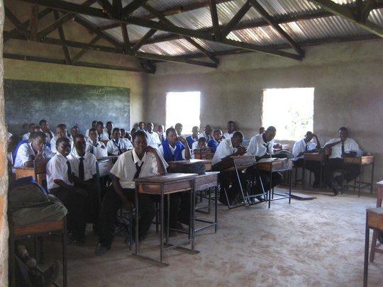 Students in Classroom at Buruma Secondary School.