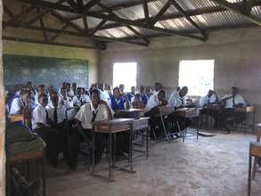 Students in Classroom at Buruma Secondary School.