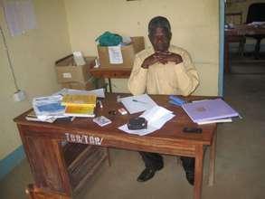 Headmaster in office