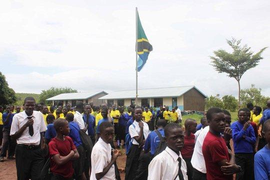 Students at Buruma Secondary school