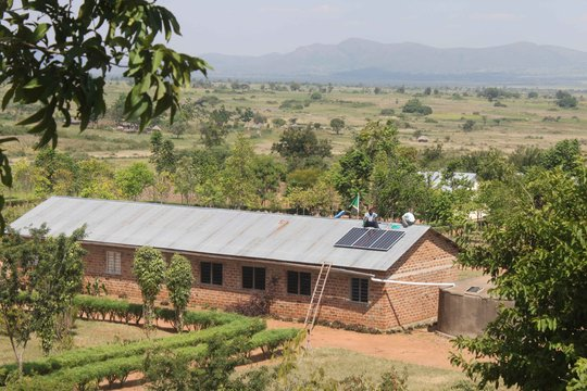 PV array on rural school