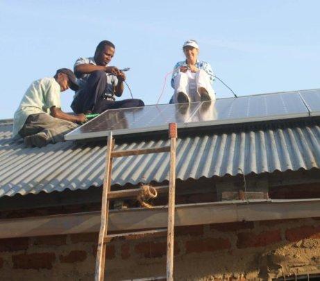 Tanzaolar team at regular maintenance