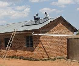 Solar panels on Tegaruka Secondary School