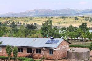 Tegaruka School w/ solar panels installed on roof!