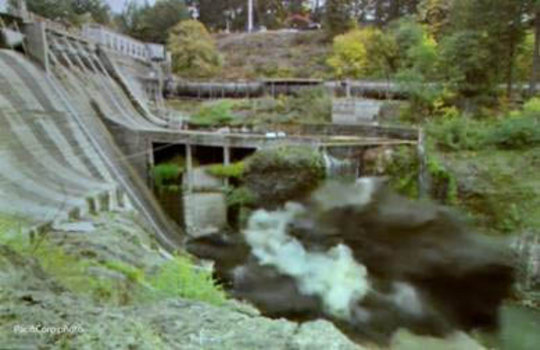 Condit Dam is breached on October 26, 2011.