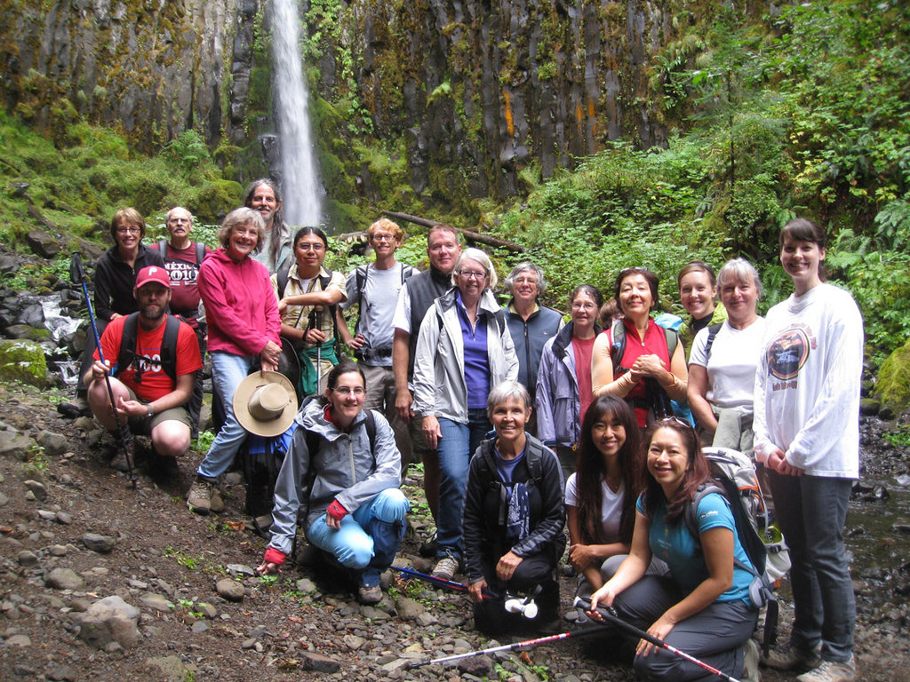Friends leads a hike to Dry Creek Falls