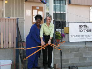 Pastor Mary and Dr. Jill at the new health center