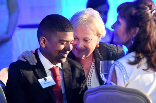 Taariq with Founder, Christel DeHaan