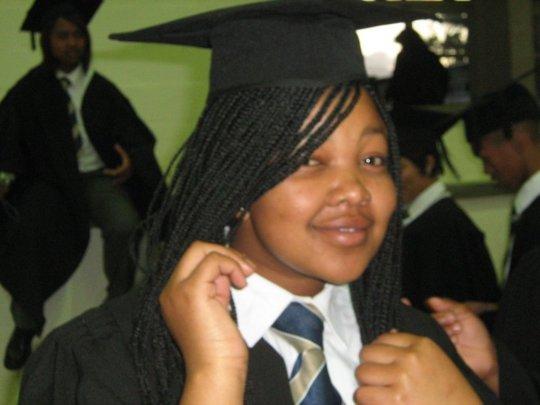 Nontando at her high school graduation